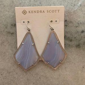 Kendra Scott Alexandra Earrings in Blue Lace Agate